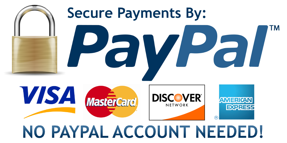 PayPal no paypal account needed logo